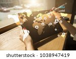global recruitment and... | Shutterstock . vector #1038947419