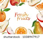 watercolor painting background... | Shutterstock . vector #1038947917