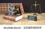 paragraph with gavel  books ... | Shutterstock . vector #1038948505