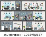 office interior building with... | Shutterstock .eps vector #1038950887