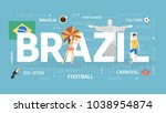 welcome to brazil. visit south...   Shutterstock .eps vector #1038954874