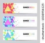 banner web template. vector eps ... | Shutterstock .eps vector #1038956125