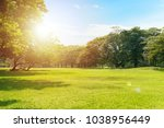 scenic view of the park with... | Shutterstock . vector #1038956449