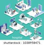 isometric 3d vector... | Shutterstock .eps vector #1038958471