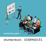isometric 3d vector...   Shutterstock .eps vector #1038960151