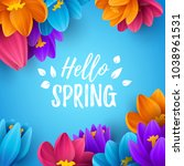 spring sale background with... | Shutterstock .eps vector #1038961531