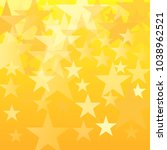 gold stars vector background.... | Shutterstock .eps vector #1038962521