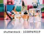 sweet fruity perfumes. amazing  ... | Shutterstock . vector #1038969019