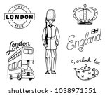 british logo  crown and queen ... | Shutterstock .eps vector #1038971551