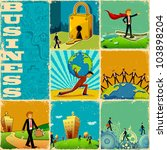 illustration of collage with... | Shutterstock .eps vector #103898204