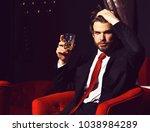 bearded man  businessman  long... | Shutterstock . vector #1038984289