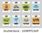 beautiful vector hand drawn... | Shutterstock .eps vector #1038991369