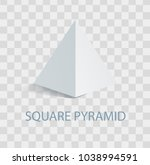 square pyramid white geometric... | Shutterstock .eps vector #1038994591