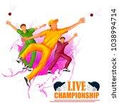 vector illustration of sports... | Shutterstock .eps vector #1038994714
