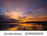 colorful sky at sunset on the...   Shutterstock . vector #1039000009
