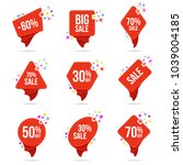 discount vector stickers  a set ... | Shutterstock .eps vector #1039004185