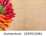 rustic kitchen background. red... | Shutterstock . vector #1039012081