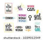 woman power quotes collection.... | Shutterstock .eps vector #1039012549
