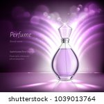 perfume glass bottle product... | Shutterstock .eps vector #1039013764