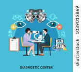 ophthalmology diagnostic center ... | Shutterstock .eps vector #1039013869