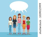 young beautiful women   Shutterstock .eps vector #1039015999