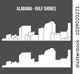 gulf shores  alabama   united...   Shutterstock .eps vector #1039020271