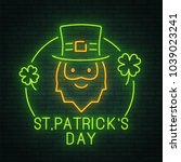 st. patrick's day. holiday.... | Shutterstock .eps vector #1039023241