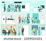 hospital interiors with... | Shutterstock .eps vector #1039024201
