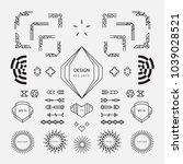 set of vintage elements linear... | Shutterstock .eps vector #1039028521