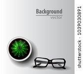 cactus top view | Shutterstock .eps vector #1039030891