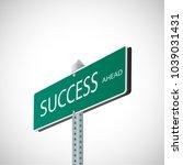 illustration of a street sign... | Shutterstock .eps vector #1039031431
