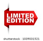 banner limited edition | Shutterstock .eps vector #1039031521