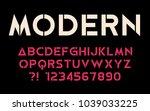 geometric font modern sport... | Shutterstock .eps vector #1039033225