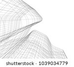 abstract architecture 3d | Shutterstock .eps vector #1039034779