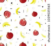 fruits. modern vector seamless... | Shutterstock .eps vector #1039035565