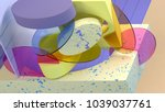 3d rendering abstract... | Shutterstock . vector #1039037761