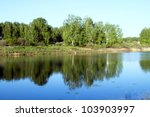 summer landscape with river and ... | Shutterstock . vector #103903997