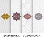 set of seamless damask pattern... | Shutterstock .eps vector #1039040914