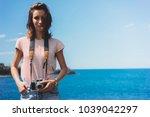 tourist traveler photographer...   Shutterstock . vector #1039042297
