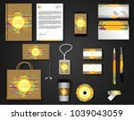 corporate style set | Shutterstock .eps vector #1039043059