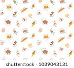 seamless sweets pattern with... | Shutterstock .eps vector #1039043131