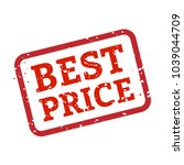 best price stamp sign white... | Shutterstock .eps vector #1039044709
