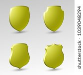 four protection shield concept. ... | Shutterstock . vector #1039048294