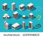 isometric building for 3d city... | Shutterstock .eps vector #1039048825