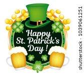 happy saint patrick's day  ... | Shutterstock .eps vector #1039061251