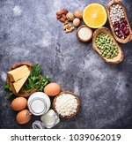 set of food that is rich in... | Shutterstock . vector #1039062019