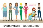 international women's day ... | Shutterstock .eps vector #1039062289
