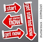 get started now stickers set. | Shutterstock .eps vector #103906265