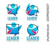 leader of your business team ... | Shutterstock .eps vector #1039065607
