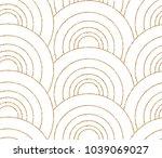 art deco seamless geometric... | Shutterstock .eps vector #1039069027